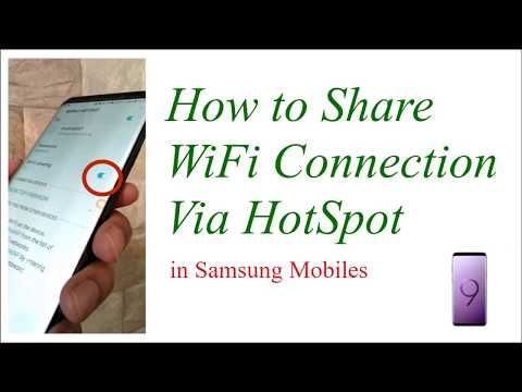 How to share WiFi connection using Hotspot - Mobile to Mobile WiFi