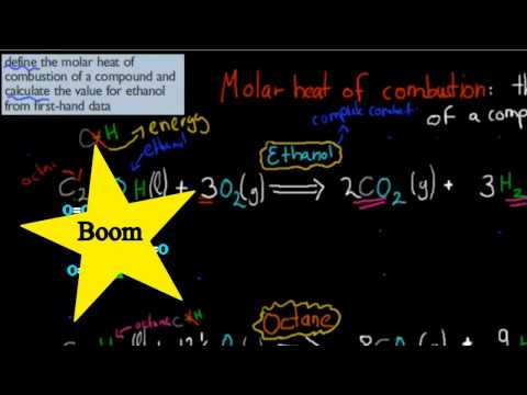 14. Molar heat of combustion (HSC chemistry)