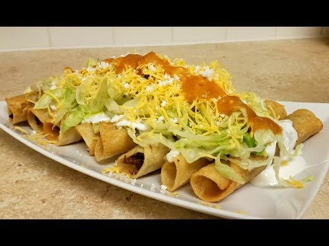 How to make Rolled Tacos (Taquitos / Flautas Recipe)