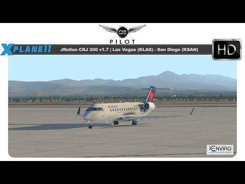 X Plane 11] JRollon CRJ 200 | KLAS ✈ KSAN | w/ BSS Sound