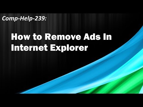 How to Remove Ads in Internet Explorer