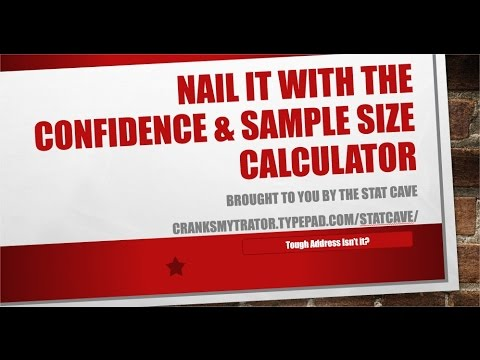 Confidence Interval and Sample Size Calculator (Part 2)