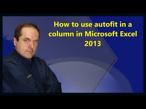How to use autofit in a column in Microsoft Excel 2013