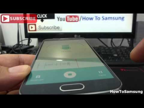 How Do I Use the Voice Recorder on Samsung Galaxy S6 Basic Tutorials