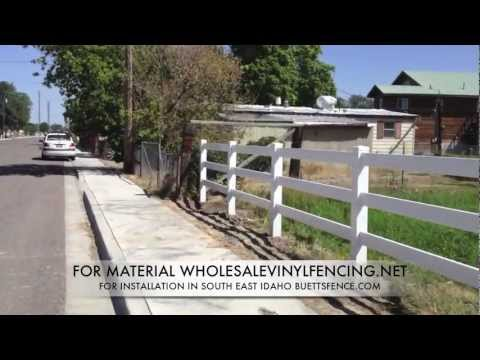 HOW TO INSTALL VINYL HORSE FENCE (Part 2)