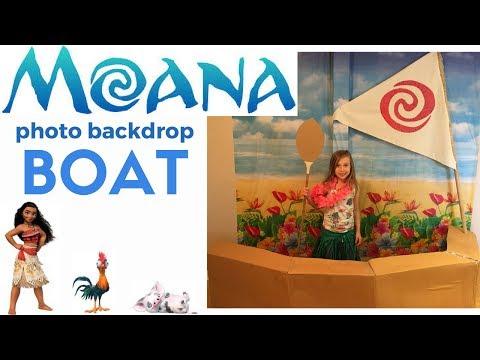 MOANA PARTY: how to make a boat & sail photo backdrop