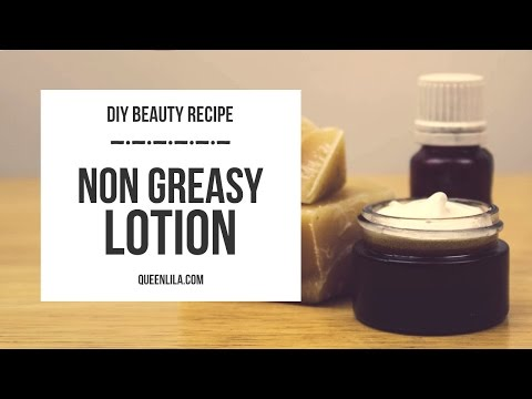DIY | Non greasy body lotion | Queen Lila