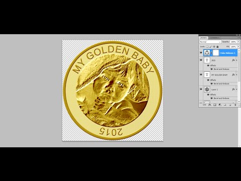 How to make custom gold coin - Photoshop Tutorial