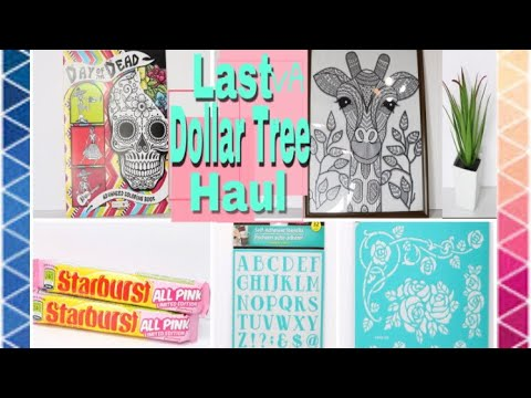 Dollar Tree Haul MARCH 2018 New finds wall art & stencils