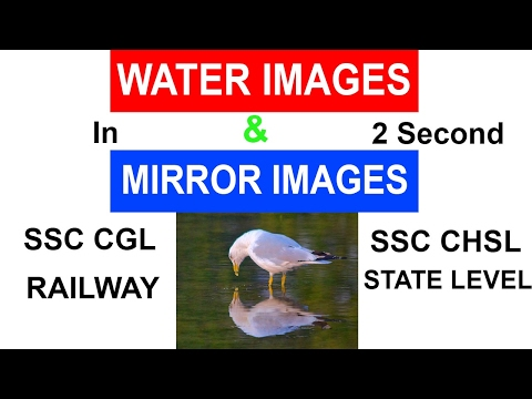 Mirror Images and Water Images   Non-Verbal Reasoning   SSC CGL   SSC CHSL   RAILWAY