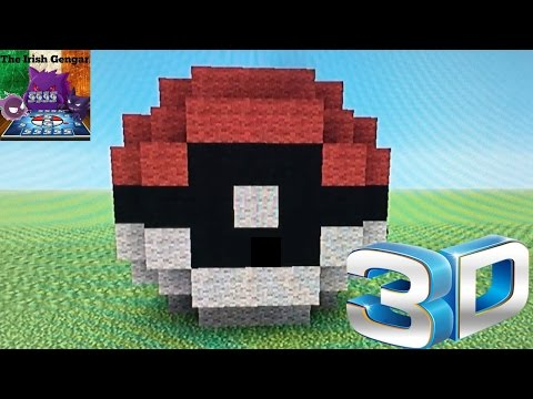 Minecraft 3D Pokeball