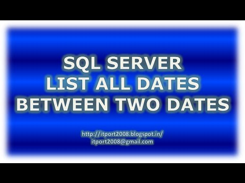 List All Dates Between Two Dates in SQL Server