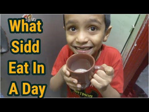 What Siddharth Eat In A Day || what my kid eat in a day || Indian kid menu 2018, Indian veg meal.