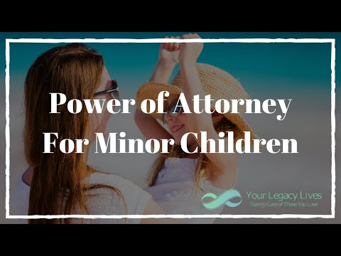 Power of Attorney for Minor Children