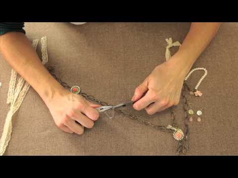 Romantic Necklace using Vintage Groove