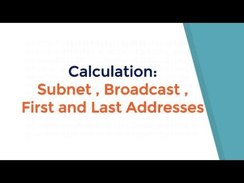 Calculating  subnets,broadcast,first host,last host,network address,subnet mask from a ip address.