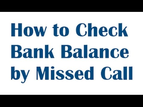 HOW TO KNOW BANK BALANCE THROUGH MISSED CALL | MISSED CALL BALANCE ENQUIRY NUMBER OF ALL BANKS
