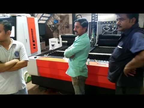 750w Fiber laser cutting 5mm mild steel carbon steel in Indian customer's factory Gujarat