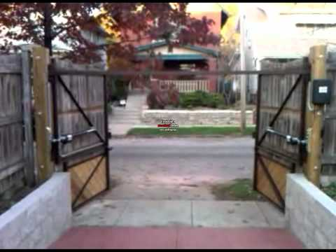Can you install a dual automatic  gate opener with a solar panel?