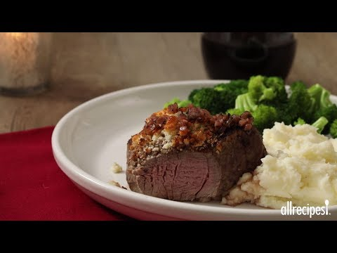 Blue Cheese Crusted Filet Mignon with Port Wine Sauce | Instagram Worthy Dishes | Allrecipes.com