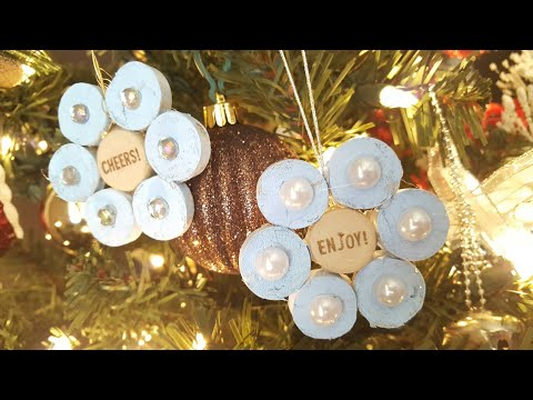 WINE CORK ORNAMENTS | CHRISTMAS CRAFTS
