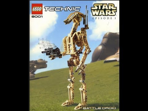 How To Build- Lego Technic -Star Wars 8001- Battle Droid-Instructions