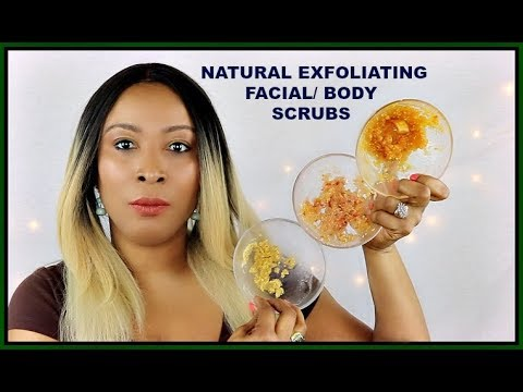 3 NATURAL ANTI - AGING FACIAL SCRUBS, HOW TO MAKE/USE FACIAL SCRUBS PART 2 |Khichi Beauty