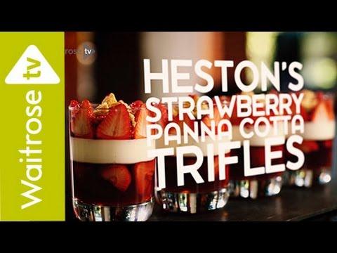 Heston Blumenthal's Strawberry Panna Cotta Trifles | Waitrose
