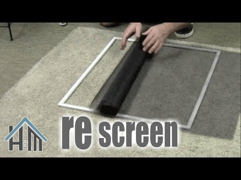 How to replace a window screen. Easy ! Home Mender