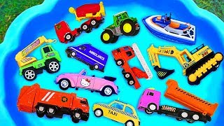 Download Cars for kids, Toys review and learning name and sounds Construction vehicles, Excavator toy Video