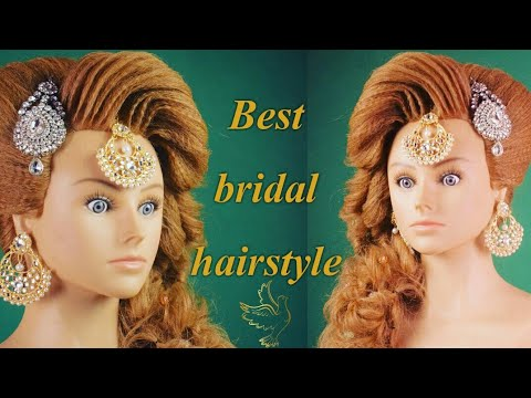 pakistani muslim bridal hairstyle in india (magic techniques by chandra prakash patel)