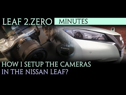 40kWh Nissan leaf 2.zero 2018 -How I setup the cameras for filming