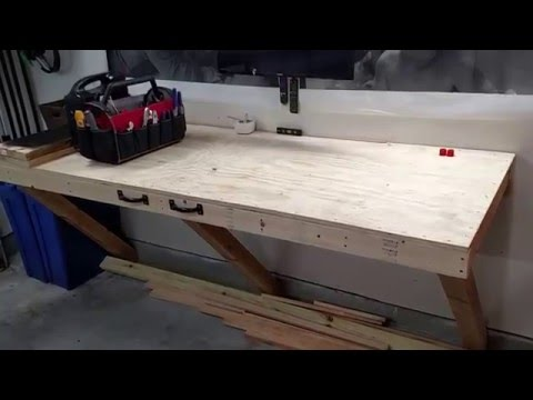Garage Storage + Folding Workbench Update