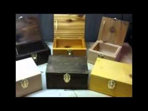 Unfinished Wood Craft Box