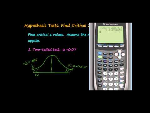 Hypothesis Tests: Find z Critical Values.mp4