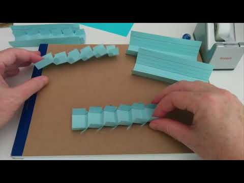 How to make stairs for a paper roller coaster