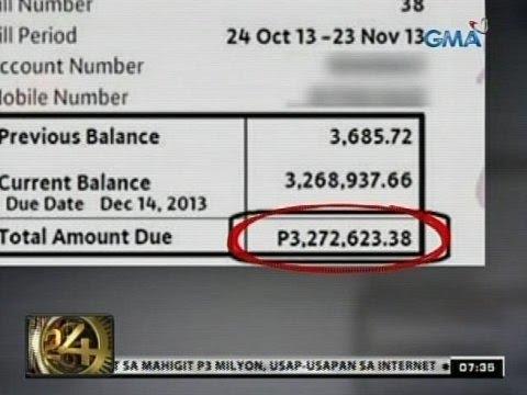 24 Oras: Reklamo sa mahigit P3-M cellphone bill, naaksyunan na raw ng Globe Telecom