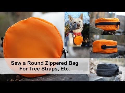 Sew a Round Zippered Bag for Tree Straps