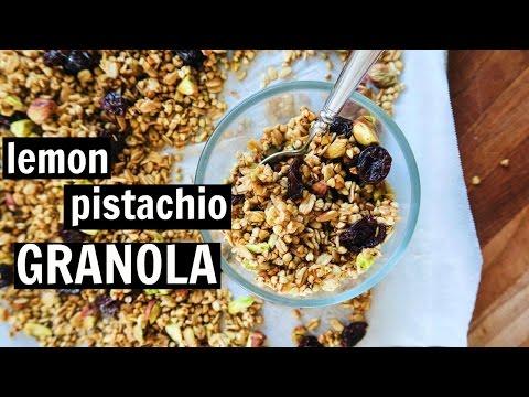 Lemon Pistachio Buckwheat Granola // Oil Free, Gluten Free, Refined Sugar Free, & Vegan