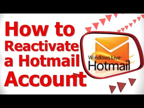 How to Reactivate a Hotmail Account