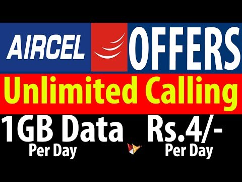 Aircel Counter Jio | Unlimited Calling 1GB Data Per Day For 84 Days | Data Dock