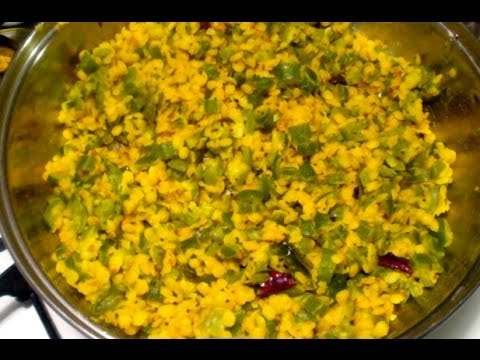Snake gourd toor dal dry curry-Potlakaya kandi pappu-Easy dal for everyday