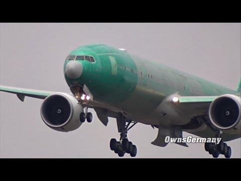 Kuwait Airways Boeing 777-300ER 9K-AOI First Flight w/ Missed Approach
