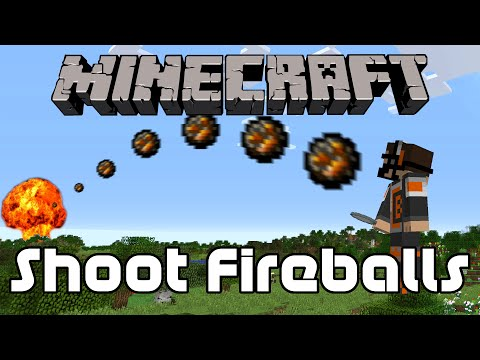 How to Shoot Fireballs in Minecraft