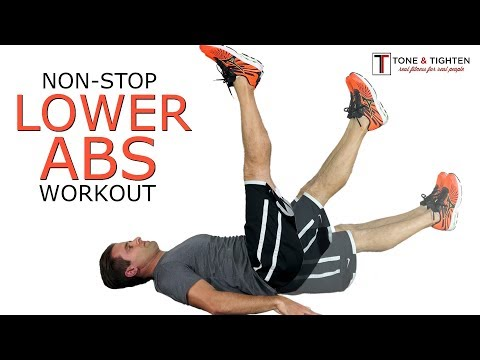 Non-stop lower abs workout at home