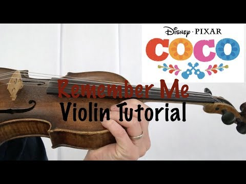 Coco Remember Me Violin Tutorial w. Sheet Music and Violin Tabs