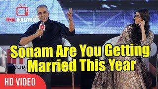 Akshay Kumar Funny Reaction On Sonam kapoor Marriage | PADMAN Press Conference