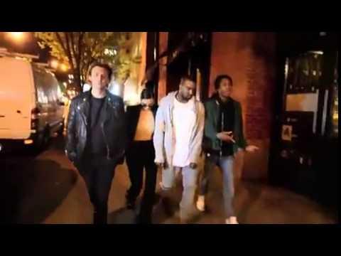 Kanye West Lets Fan Rap For Him In SoHo! HD HQ
