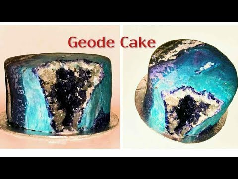 GEODE CAKE. How to decorate a  GEODE CAKE