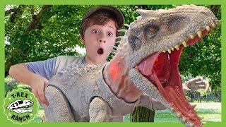 Giant Indominus Rex Dinosaur Showdown! Dinosaurs for Kids with Jurassic World Toys at T-Rex Ranch